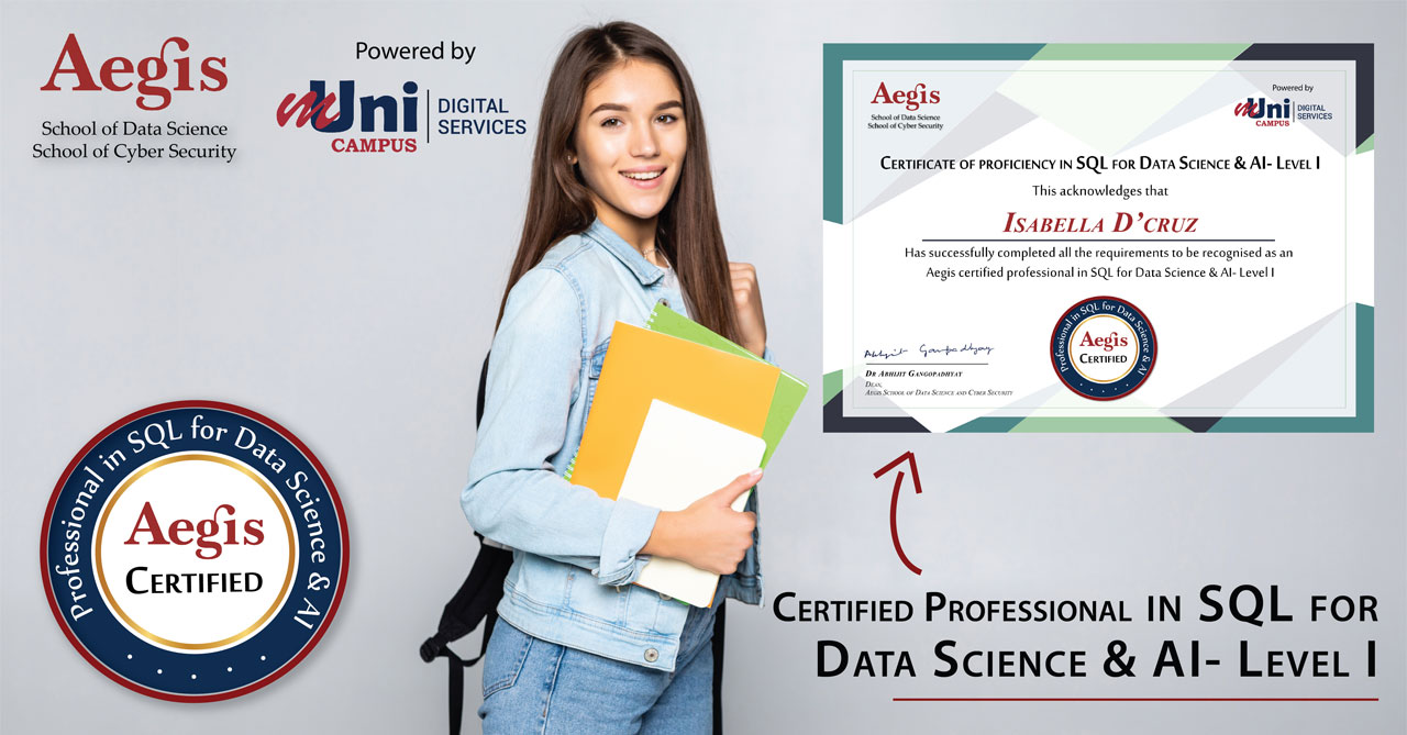 Certificate of Proficiency in SQL for Data Science & AI
