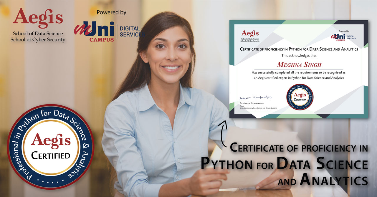 Certificate of Proficiency in Python for Data Science and Analytics