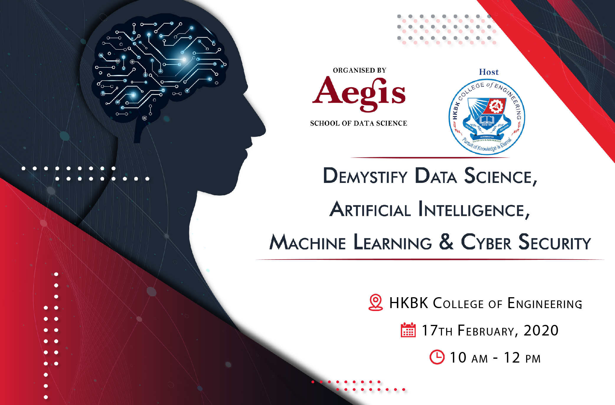 Demystify Data Science, ML, AI, & CS & Day at HKBK college, Bangalore
